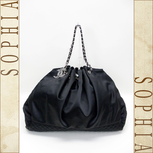 Chanel Melrose Cubus Silk Satin Black (Black) 08c Bag