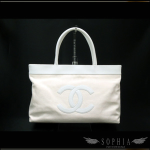 Chanel Canvas Cotton Tote Bag Beige