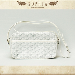 Goyard Goyar Shoulder Bag White Coating Canvas