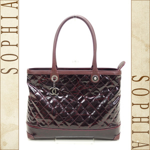 Chanel Damage Design Tote Bag Bordeaux