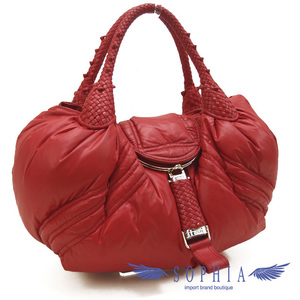 Fendi Moncler Collaboration Spy Bag Red Down