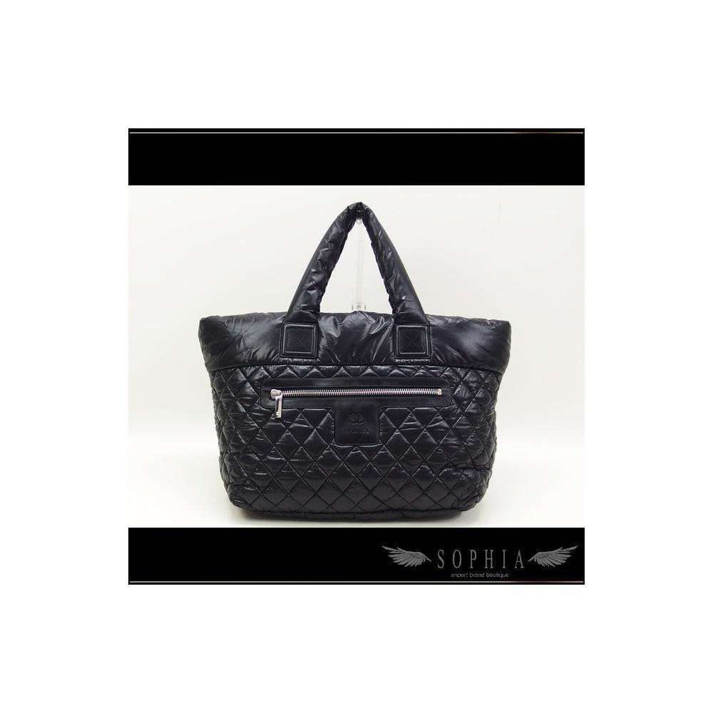 438edeb08453 Chanel Coco Cocoon Nylon Medium Tote Bag Black