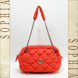 Chanel Bubble Quilted Fabric Quilting Handbag Bag