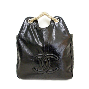 Chanel (Chanel) Patent Leather Soft Enamel Tote Bag A 39826