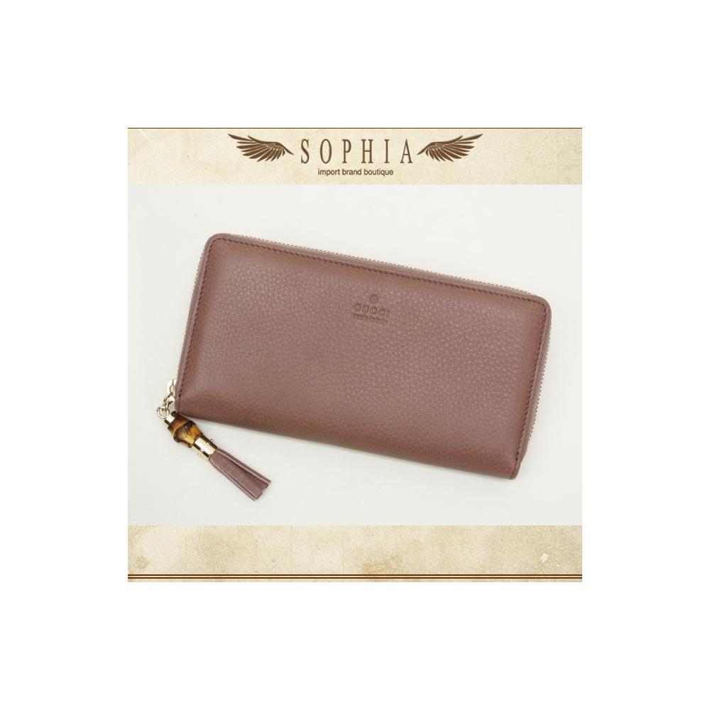 db92e97edd60 Gucci (Gucci) Bamboo Tassel Zip Around Wallet Purse