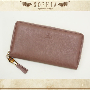 Gucci (Gucci) Bamboo Tassel Zip Around Wallet Purse