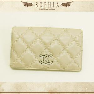 Chanel (Chanel) Hamptons Folded Purse Light Beige Wallet