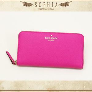 Kate Spade (Kate Spade) Round Zipper Long Wallet Fuchsia Pink Purse