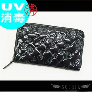 Chanel (Chanel) Patent Round Zipper Long Wallet Purse