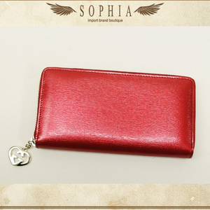 Gucci (Gucci) Lovely Round Zipper Long Wallet Red