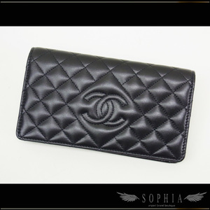 Chanel (Coco Mark Quilting Folded Long Purse Wallet