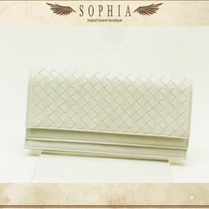 Bottega Veneta (Bottega Veneta) W Flap Wallet Ivory Purse