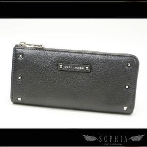Marc Jacobs With L-shape Zipper Wallet Purse Studs