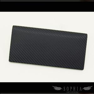 Dunhill Carbon Fiber Wind Men's Folded Long Wallet Black