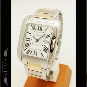 Cartier (Cartier) Tank Unglaze Lm K18pgxss Watch