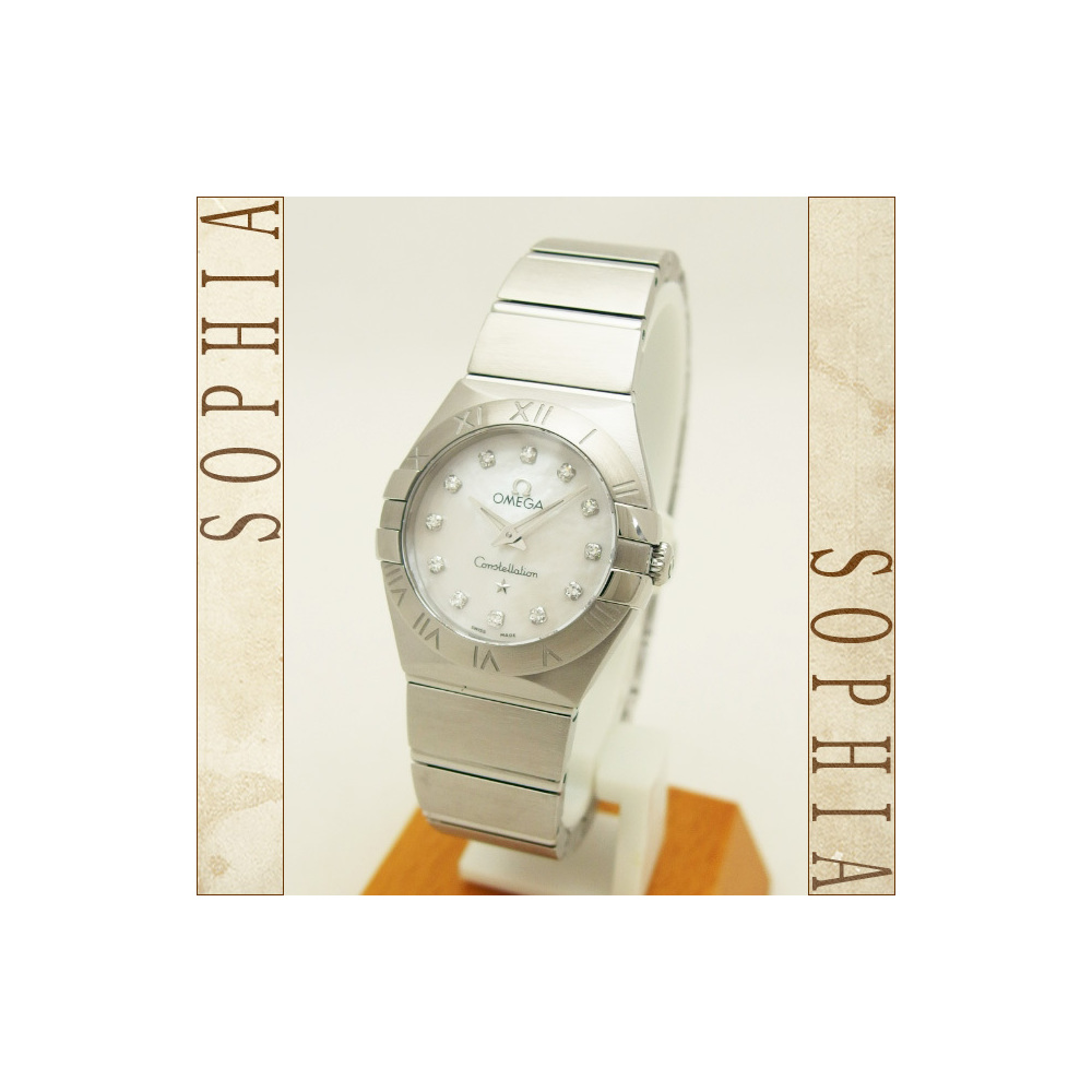 Omega (Omega) Constellation Quartz 24mm 12p Diamond Watch