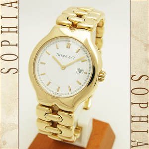 TIFFANY Tissot Round Watch Quartz K18yg Wrist