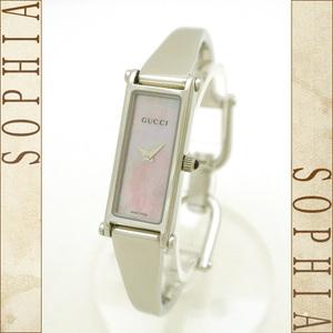 Gucci (Gucci) Bangle Watch Ladies 1500l Quartz Pink Shell Face Board Ss