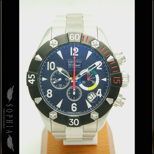 Zenith Defi Classic Chrono Aero El Primero 03.0526.4000 / 21.m 526 Men's Ss Black Letter Automatic Winding Wrist Watch