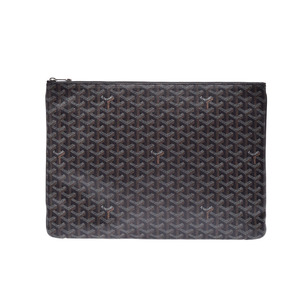 Used Goyard Sena Gm Black Clutch Bag Document Case New Same