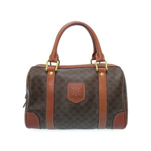 Celine Pearl Handbag Pvc Brown Ladies 0516