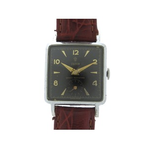 Tudor Shibi Rose Shock-resisting Handwound Wristwatch Black Character Board Vintage Antique 0341