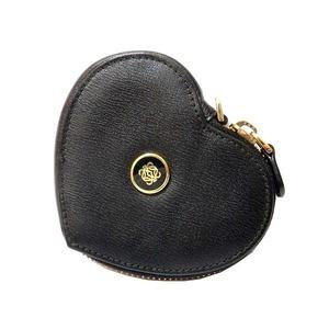 Loewe Heart Motif Amasona Leather Coin Case Black 0534 Unisex