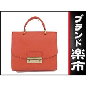Furla Metropolis Chain Shoulder 2 Way Bag Orange