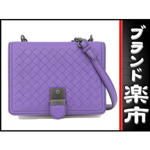 Bottega Veneta Ottega Veneta Bottega Intorechat Leather Shoulder Bag Purple