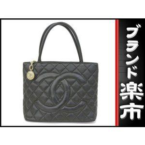 Chanel Caviar Skin Reprint Tote Bag Black Gold Hardware 11 Series