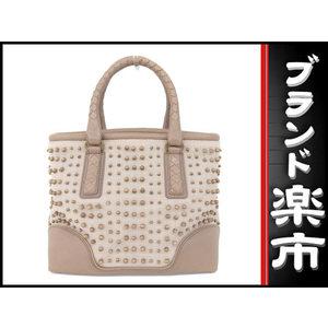 Bottega Veneta Ottega Veneta Bottega Wood Beads Leather × Canvas Handbag Pink Beige 176392 Bag
