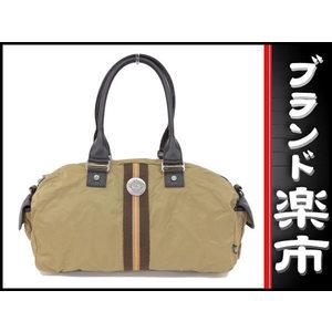 Orobianco Oroianco Orobianko Nylon 2 Way Shoulder Boston Bag Khaki