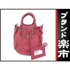 Alenciaga Balenciaga Calf Mini Bonbon 2 Way Bag Pink 285439