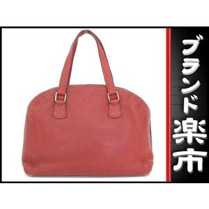 Fendi Celia Leather Handbag Red Bag