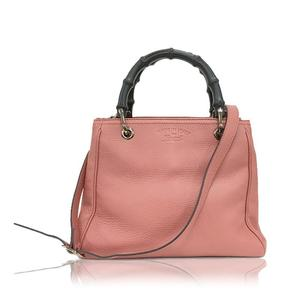 Gucci Bamboo Shopper 2 Way Bag 336032 Pink Handbag Women's