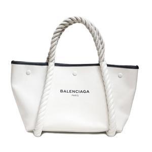 Balenciaga Tote Bag 339933 C8o1n 9060 White × Black Rope Ladies