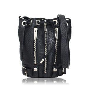 Saint Laurent Rider Shoulder Bag 333479 Black Tone Ladies'