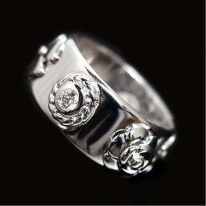 Chanel Three Symbol Ring K18wg Diamond Ladies Rings Jewelry Finished