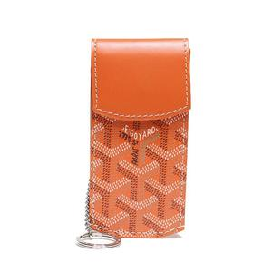 Goyar Goyard Portier Key Case Orange With Ring Women's