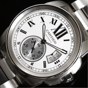 カルティエ Cartier  カリブル ドゥ カルティエ  W7100015 自動巻き ホワイト×シルバー メンズ 腕時計