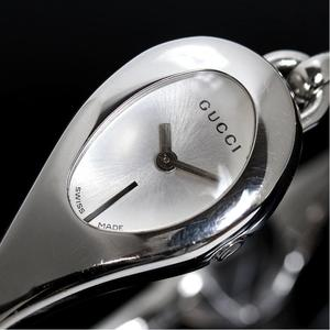 Gucci Horse Bit Ya103504 Quartz Silver Ladies Bangle Watch Wrist