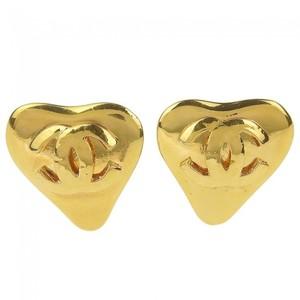 Chanel Metal Earrings Gold