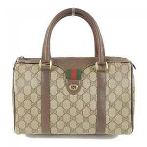 Gucci Sherry Line PVC Boston Bag Brown