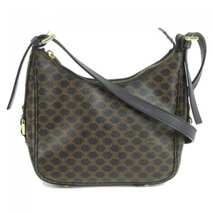 54410aa6bd Celine Macadam Leather Shoulder Bag Black
