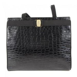 Salvatore Ferragamo Leather Tote Bag Black
