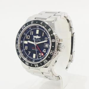 Breitling A 32380 Super Ocean Gmt Limited Green Bezel At Ss Unisex Wrist Watch