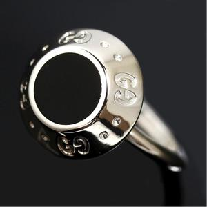 Gucci Ring K18 Wg Gg Pattern Women's No. 12.5 Jewelry Accessories