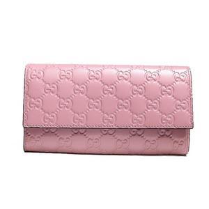 Gucci Shima Folded Long Purse 410100 Pink Women's