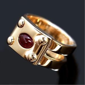 Hermes Ruby Ring K18yg Women's Rings Jewelry Accessories