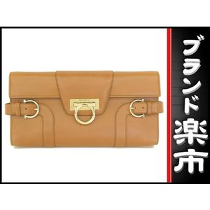 Salvatore Ferragamo Gangini 2 Way Shoulder Clutch Bag